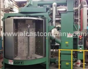Steel Shot Spin Blasting in Alcast Company Aluminum foundry