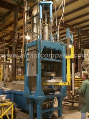Alcast Company aluminum Foundry Low pressure Permanent Mold bottom fill electro magnetic aluminum Casting Machine