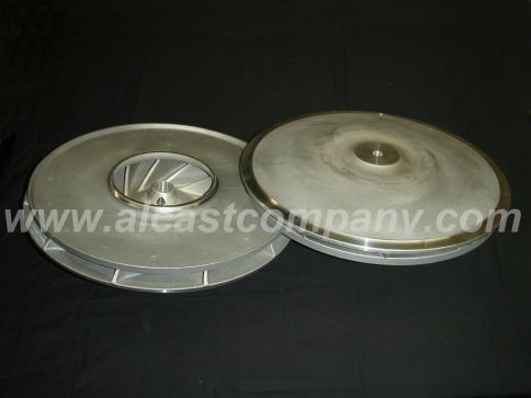 thin walled cast aluminum agricultural blower casting