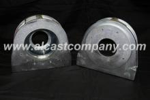bearing housing with cast in steel insert