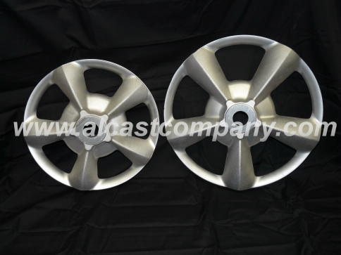 rough cast aluminum wheel centers