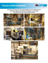 Alcast Company permanent mold aluminum foundry facilities brochure