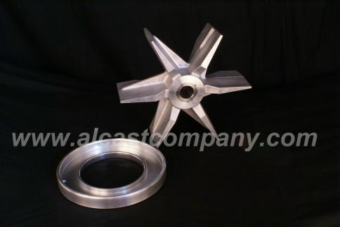 Alcast fully mached cast aluminum blower with shrink fit stainless steel insert