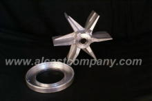 heat shrunk stainless steel insert in cast aluminum impeller