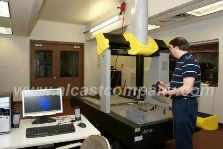 CMM Checking High Quality Aluminum Castings