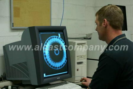 Alcast Company digital x ray, torque converter, quality, inspection