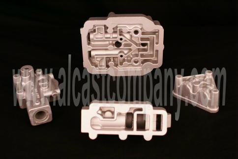 cast aluminum transmission, pump, and hydraulic valve body castings